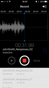 Example of a good audio level